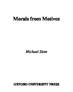 Morals from Motives