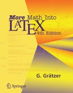 More Math Into LaTeX, 4th Edition