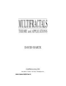 Multifractals: Theory and Applications