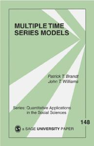 Multiple Time Series Models (Quantitative Applications in the Social Sciences)