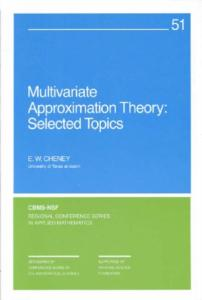 Multivariate approximation theory
