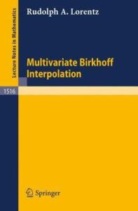 Multivariate Birkhoff interpolation