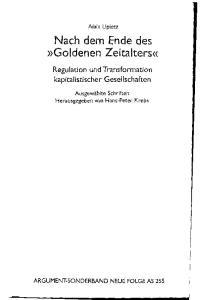 Nach dem Ende des Goldenen Zeitalters: Regulation und Transformation kapitalistischer Gesellschaften