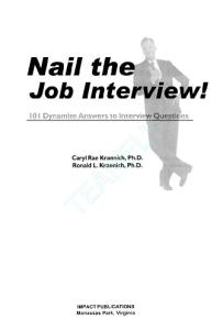 Nail the Job Interview! 101 Dynamite Answers to Interview Questions