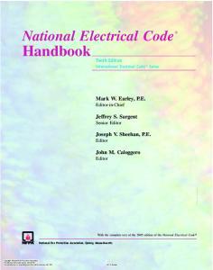 National Electrical Code Handbook (Usa)