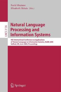 Natural Language Processing and Information Systems, 9 conf., NLDB 2004