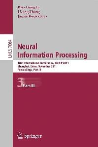 Neural Information Processing, Part III - ICONIP 2011