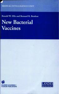 New bacterial vaccines