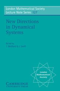 New directions in dynamical systems