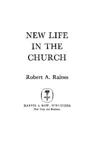 New Life in the Church