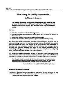 New Money for Healthy Communities