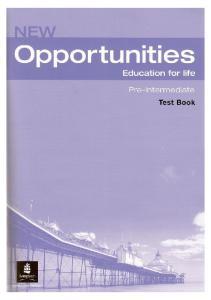 New Opportunities Pre-Intermediate Test Book