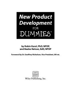 New Product Development For Dummies (For Dummies (Business & Personal Finance))