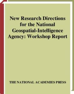 New Research Directions for the National Geospatial-Intelligence Agency