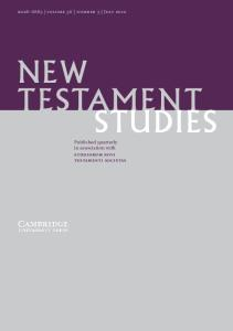 New Testament Studies, Volume 56, Number 3 (July 2010)
