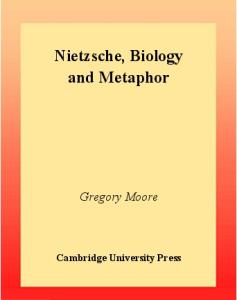 Nietzsche, Biology and Metaphor