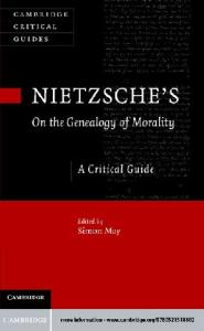 Nietzsche's On the Genealogy of Morality: A Critical Guide (Cambridge Critical Guides)