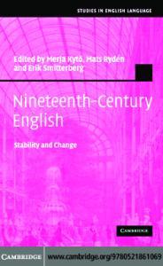 Nineteenth-Century English: Stability and Change (Studies in English Language)