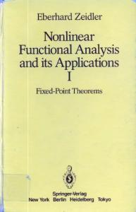 Nonlinear Functional Analysis and its Applications: Nonlinear Functional Analysis and its Application. Fixed Point Theorems