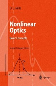 Nonlinear Optics - Basic Concepts
