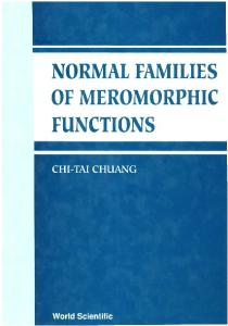 Normal Families of Meromorphic Functions