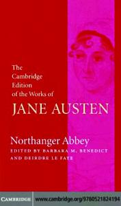 Northanger Abbey (The Cambridge Edition of the Works of Jane Austen)