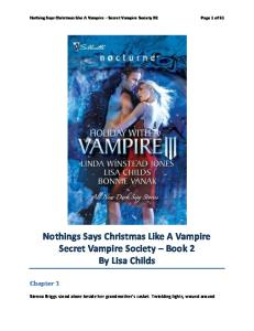 Nothing Says Christmas Like A Vampire