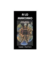 Novela  A Lo Marciano Isaac Asimov