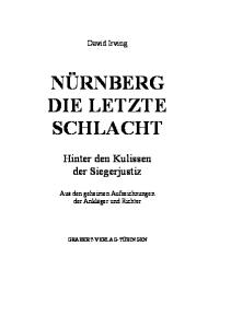 Nürnberg - Die letzte Schlacht
