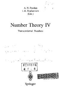 Number Theory IV: Transcendental Numbers