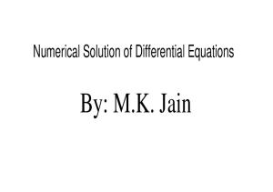 Solution of differential equation models by polynomial approximation
