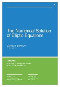 Numerical Solution of Elliptic Equations