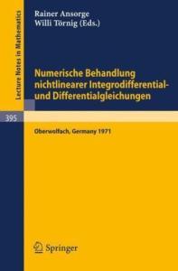 Numerische Behandlung nichtlinearer Integrodifferential- und Differentialgleichungen