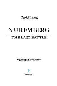 Nuremberg The Last Battle