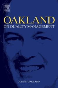 Oakland on Quality Management, Third Edition