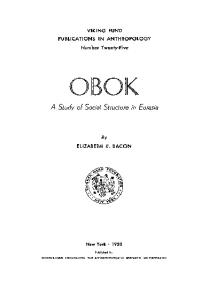 Obok. A Study of social structure in Eurasia