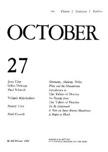 October journal No.27 Winter (1983)