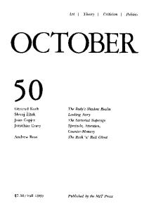October journal No.50 Autumn (1989)