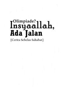 Olympiad? Insyaallah, There is A Way