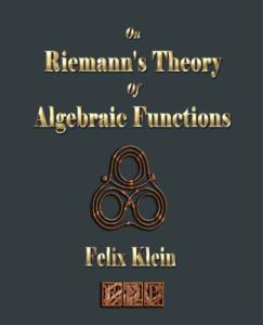 On Riemann's theory of algebraic functions