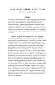 On the Relation Between Science and Religion