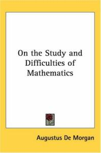 On The Study And Difficulties Of Mathematics