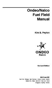 Ondeo-Nalco Fuel Field Manual