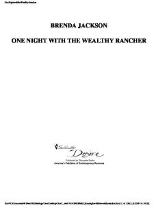 One night with the wealthy rancher