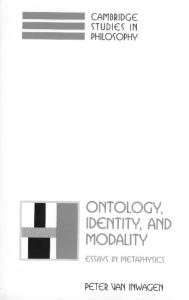 Ontology, Identity, and Modality: Essays in Metaphysics (Cambridge Studies in Philosophy)