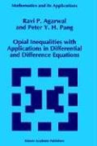 Opial inequalities with applications in differential and difference equations