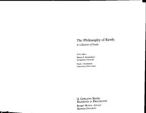 Opponents and Implications of A Theory of Justice (Philosophy of Rawls Volume 3)