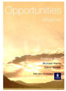 Opportunities: Beginner Students' Book