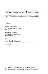 Optical Sensors and Microsystems: New Concepts, Materials, Technologies