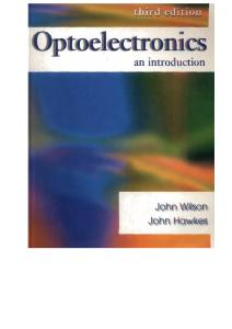 Optoelectronics: An Introduction (3rd Edition)